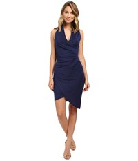 Nicole Miller Sparkle Stefanie Tulip Dress Midnight Women's Dress Navy
