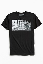 Urban Outfitters M. C. Escher Day And Night Tee Black