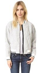Rag And Bone Quilted Bomber Jacket Heather Grey