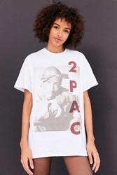 Urban Outfitters 2Pac Tune In Tee White