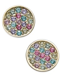 Kate Spade New York 14K Gold Plated Multi Color Pave Disc Stud Earrings