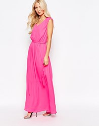 Traffic People Candy Bold Demi Maxi Dress Pink