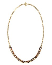 Tortoiseshell Chain Link Necklace Women's Gold Tortoise Michael Kors