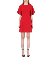 Sandro Batwing Sleeve Crepe Dress Red
