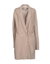 European Culture Full Length Jackets Beige