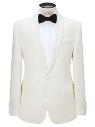 John Lewis Shawl Lapel Tailored Dress Suit Jacket White