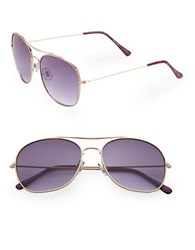 Sam Edelman 57Mm Aviator Sunglasses Purple