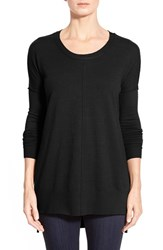 Women's Coin 1804 Dolman Sleeve High Low Tunic Black