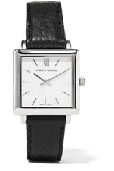 Larsson And Jennings Norse Leather Silver Plated Watch