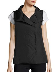 Eileen Fisher Silk And Cashmere Puffer Vest Black