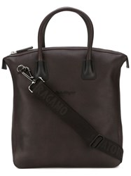 Salvatore Ferragamo Textured Tote Bag Brown