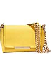 Emilio Pucci Textured Leather Shoulder Bag Yellow