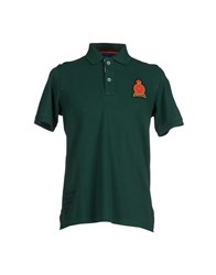 Italian Rugby Style Topwear Polo Shirts Men Emerald Green