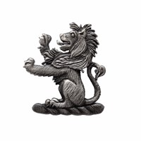 Tyler And Tyler Heraldic Lion Lapel Pin Silver