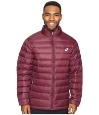 Asics Down Jacket Rioja Red Men's Coat Burgundy