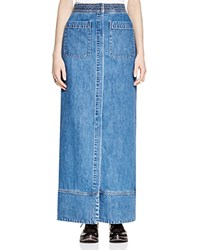 Free People Just A Dream Denim Maxi Skirt Rory