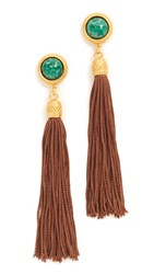 Ben Amun Post Tassel Earrings Gold