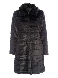 Jane Norman Black Longline Fur Coat