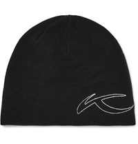 Kjus Fleece Lined Stretch Knit Beanie Hat Black