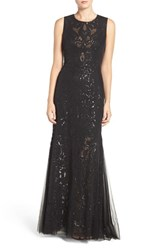 Vera Wang Women's Sequin Lace And Tulle Gown