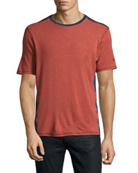 Revo Knits Short Sleeve Crewneck Jersey Tee Henna Red