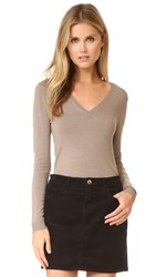 525 America Low V Neck Sweater Beachwood