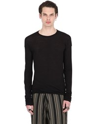 Isabel Benenato Essential Wool And Cotton Jersey T Shirt
