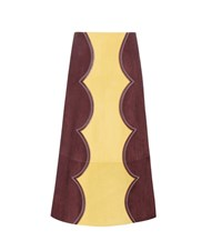 Marni Suede Midi Skirt Purple