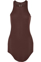 Rick Owens Ribbed Stretch Jersey Tank Red
