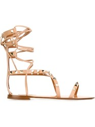 Valentino Garavani 'Rockstud' Sandals Pink And Purple