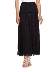 Michael Michael Kors Drawstring Maxi Skirt Black