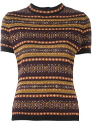 Jean Paul Gaultier Vintage Striped Knit Top Multicolour
