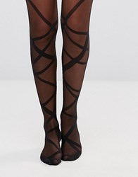 Gipsy Ribbon Wrap Tights Black