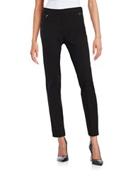 Tahari By Arthur S. Levine Skinny Knit Pants Black