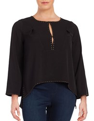 Modamix Plus Studded Blouse Black