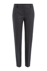 The Kooples Wool Pants With Leather Grey