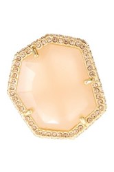 Vince Camuto Pave Border Stone Ring Size 7 Pink