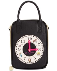 Betsey Johnson Clock Lunch Tote Cream
