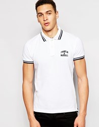 Franklin And Marshall Pique Polo Shirt With Tipping White