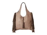 Frye Farrah Fringe Bag Grey Buffalo Leather Top Handle Handbags Gray