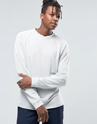 Adpt Crew Neck Sweat With Overlap Neck And Roll Hem Detail High Rise Grey
