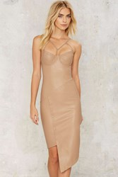Nasty Gal With A Vengeance Bodycon Dress Brown