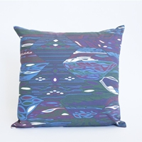 Mociun Purple And Blue Argon Print Pillow