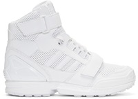 White Leather High Top Adidas By Juun.J Sneakers