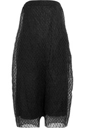 Rick Owens Smocked Tulle Playsuit Black
