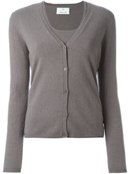 Allude Classic Cardigan Nude And Neutrals
