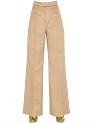 Max Mara High Waisted Wide Leg Camel Pants
