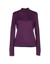 Gran Sasso Knitwear Turtlenecks Women Purple