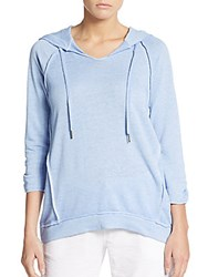 Calvin Klein Icy Terry Hooded Pullover Blue Tile