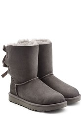 Ugg Australia Short Bailey Bow Suede Boots Grey